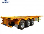 Factory 20FT 40FT Tri-Axle Skeletal Chassis Container Semi Trailer