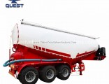 3axles 40cube Meter Banana Shape Bulk Cement Tank Trailer
