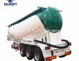 Quest 37cbm Volume Tri-Axle Tanker Cement Bulk Truck Trailer