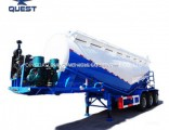 Quest 3-Axle 36-60m3 Powder Tanker Truck Bulk Cement Tank Trailer