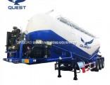 Quest 3axles 45m3 Bulk Cement Silo Tanker Semi Truck Trailer