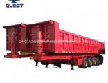 5 Axles 50cbm Dump Semi Trailer Bulk Cargo Transporter Trailer