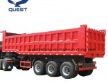 Quest 3axles 30cbm-50cbm Rear Dump Truck Tipper Semi Trailer
