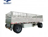 20FT 40FT Container Transport Side Wall Full Draw Bar Trailer