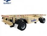 2-Axle 20FT Contaner Transport Drawbar Full Trailer