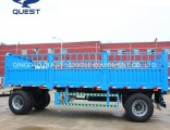 2axle 15ton Side Panel Cargo Drawbar Trailer Fence Full Trailer