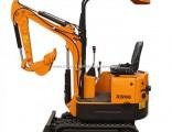 Rubber Track Crawler Excavator Mini Excavator 0.8t, 1.5t Cheap Farm Digging Machine for Sale in Euro